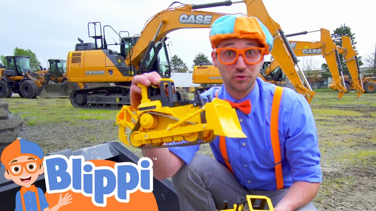 Blippi Learns About Diggers   Construction Vehicles For Kids   Educational Videos For Toddlers