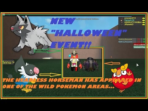 NEW HALLOWEEN EVENTROBLOXPROJECT POKEMON YouTube