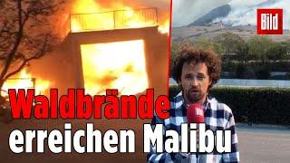 Malibu bedroht, 160.000 Menschen betroffen: Feuer in Kalifornien!