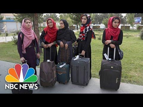 Afghanistan's All-Female Robotics Team Heads To U.S. After Donald Trump Intervenes   NBC News
