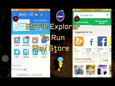 Android play store run ES File Explorer in tizen device( Tizen z1,z2,z3)