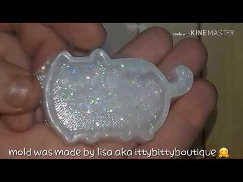 Handmade pusheen shaker charm :) part 1