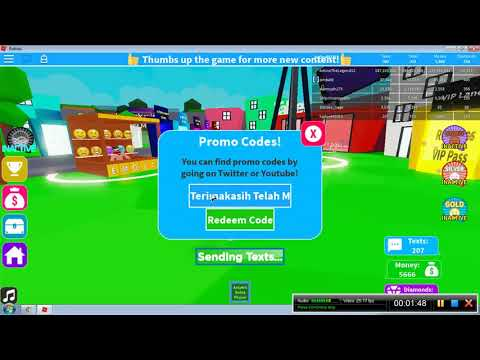 New Codes New Texting Simulator Roblox Indonesia Youtube