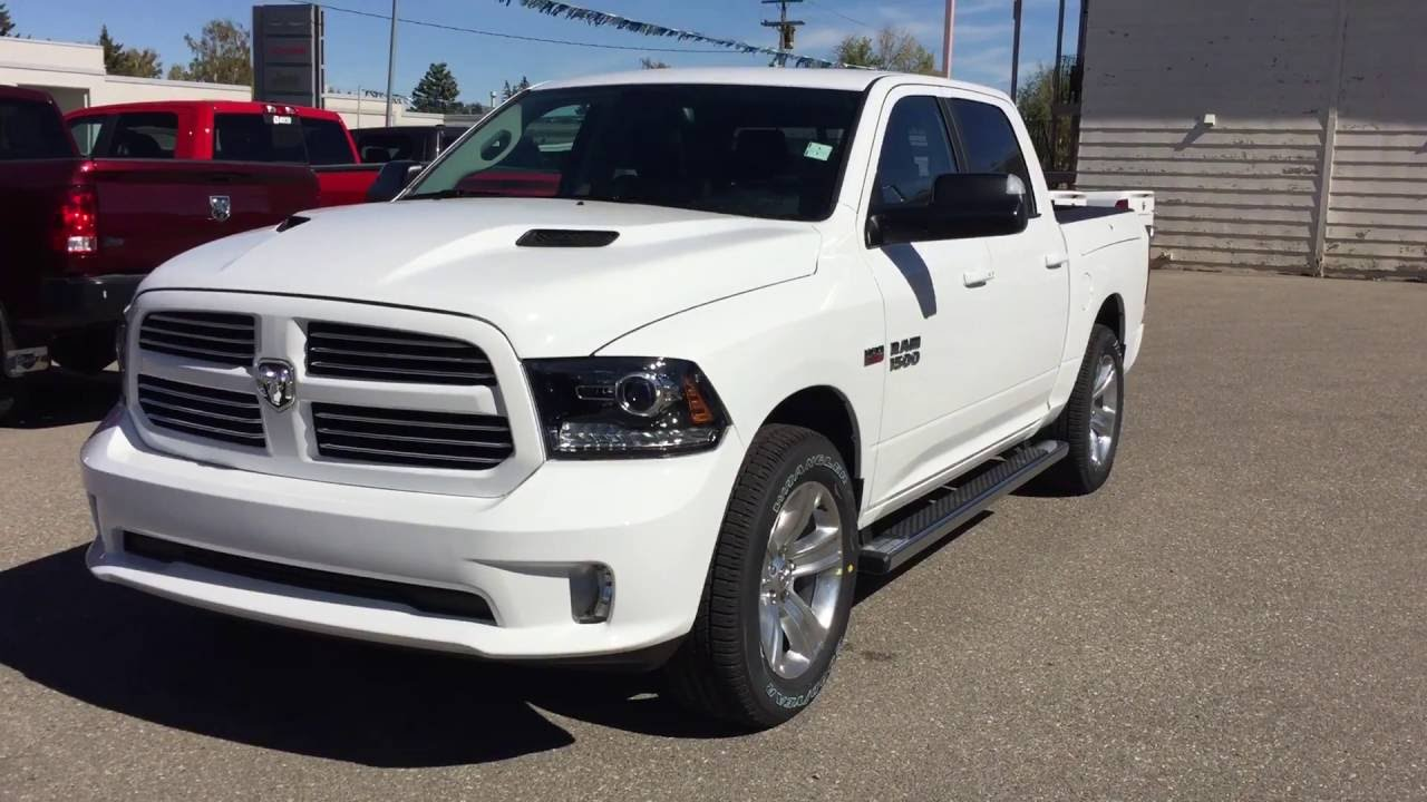 white 2017 ram 1500 sport youtube. Black Bedroom Furniture Sets. Home Design Ideas