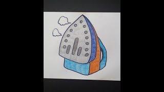 рисуем утюг   -   Draw iron   -   Dibujar hierro    -   Zieh Eisen Как нарисовать милые рисунки