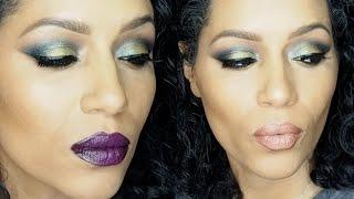 morphe brushes 12z palette bold green smokey eye makeup tutorial