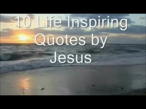 Jesus Inspirational Quotes Beauteous 10 Life Inspiring Quotesjesus Christ  Youtube