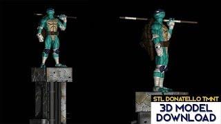 💥 Download STL Donatello Tortugas ninja / Ninja Turtles (TMNT) 3D Model Fanart version