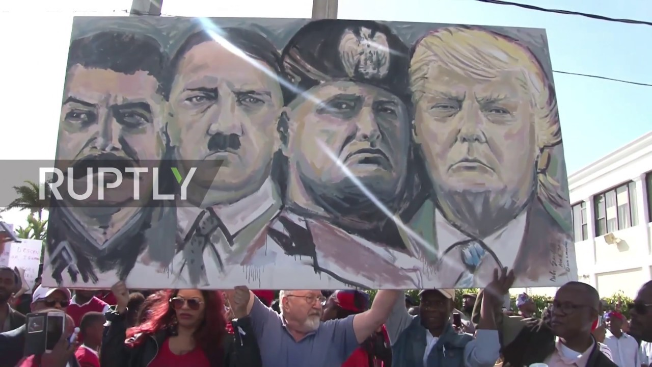 USA: Haitians protest by Trump's Mar-a-Lago over alleged 'shithole countries' rant