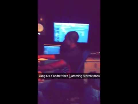 Andre Vibez X Yung 6ix vibing to 'Steven tones'
