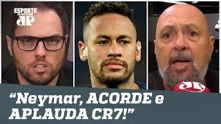 """""""ACORDE e APLAUDA CR7!"""" NEYMAR ouve o que NÃO QUERIA após hat-trick do português!"""
