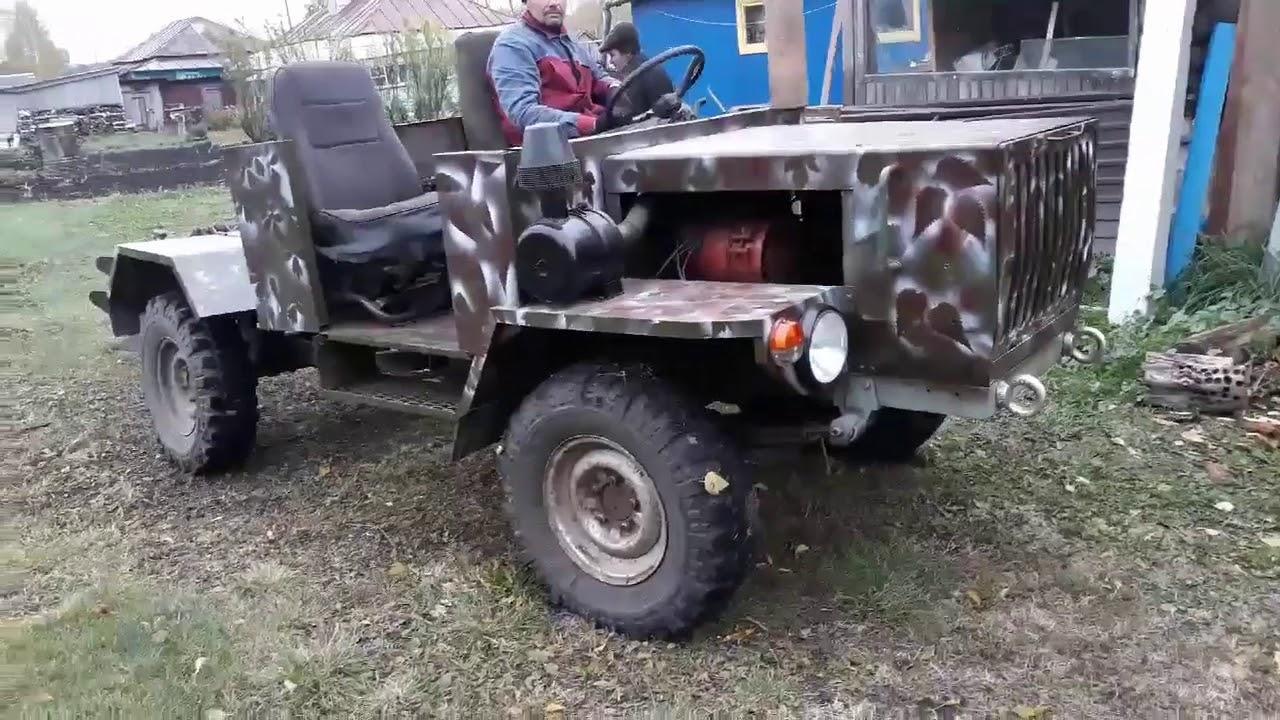 Самодельный трактор из уаза фото