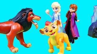 Frozen 2 Elsa Anna Ice Castle Lion King Scar Simba Kion Snow Monster
