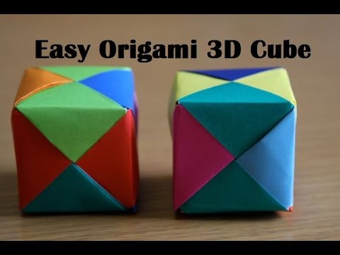 Origami Cube - Very Easy Paper Cube for Kids - YouTube - photo#3