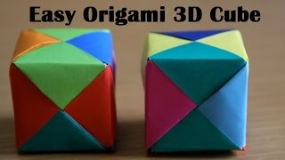 Origami Cube  - Very Easy Paper Cube for Kids