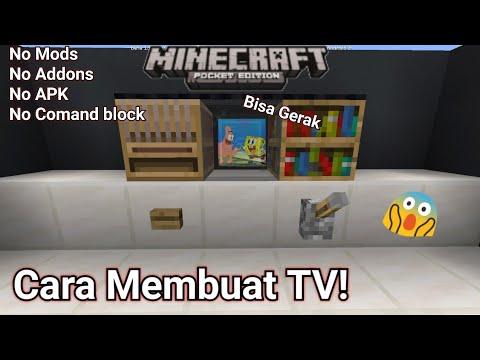 Cara Membuat TV! BISA GERAK 100% Work! Di MinecraftPE! NoMods! NoAddons! - 동영상