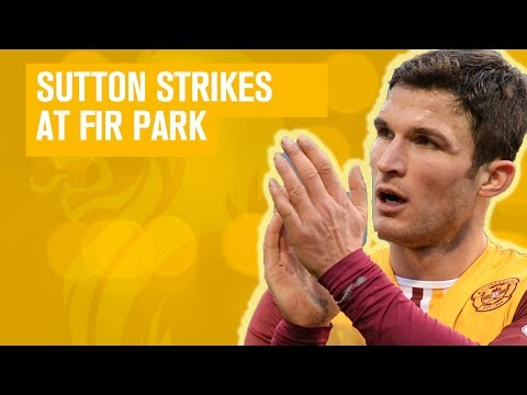 Watch John Sutton score late equaliser for Motherwell