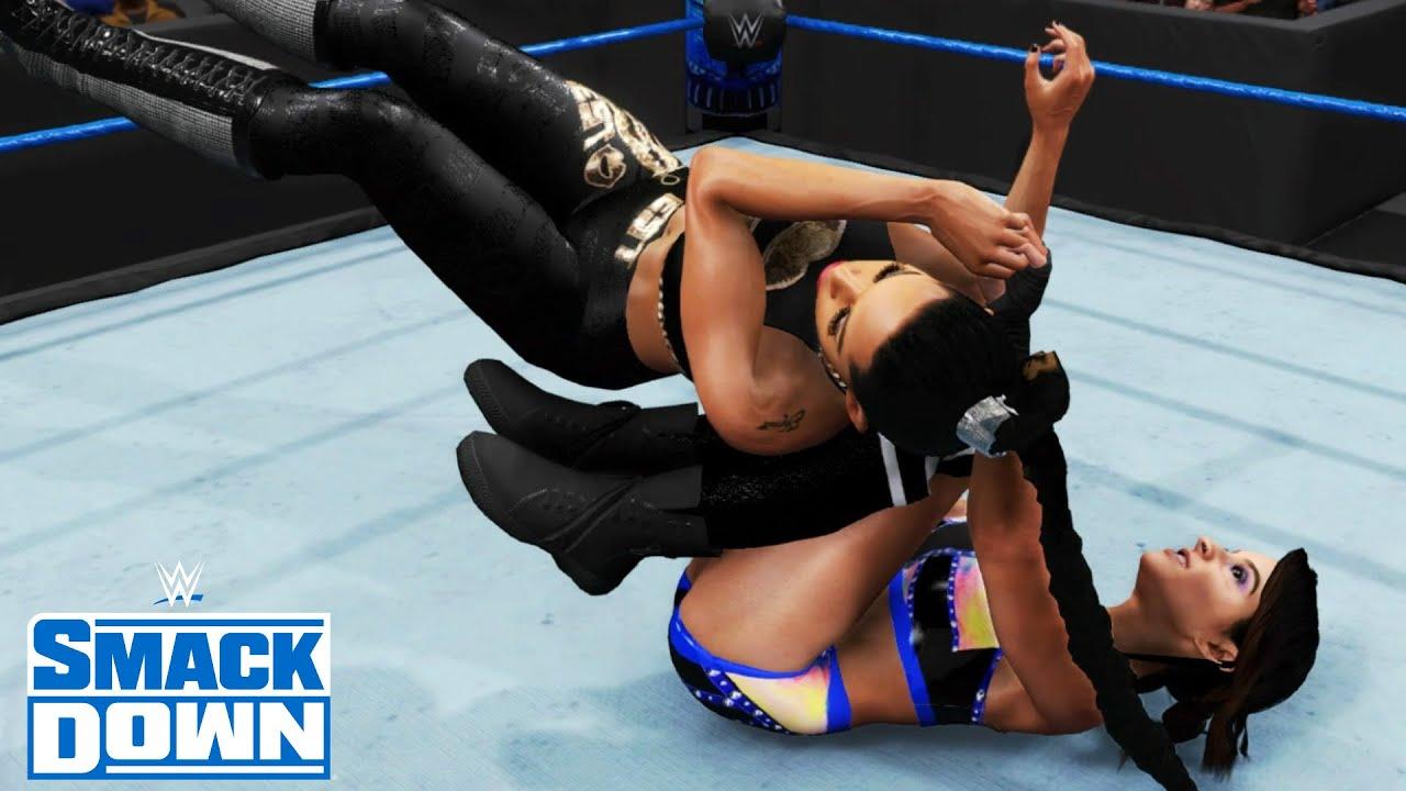 WWE 2K20 SMACKDOWN DAKOTA KAI (W/RAQUEL GONZALEZ) VS BIANCA BELAIR