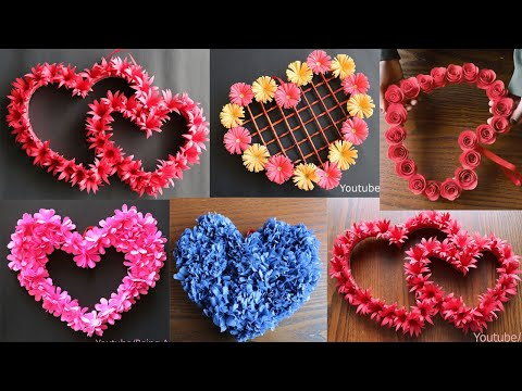 5 Beautiful Paper Flower Wall Hanging- Easy Wall Decoration Ideas - Paper craft - DIY Wall Decor