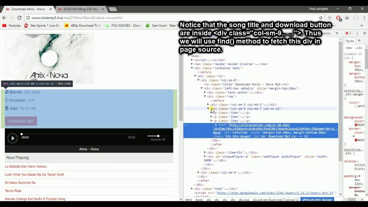 Download Music Using Python! (web Scraping 101)