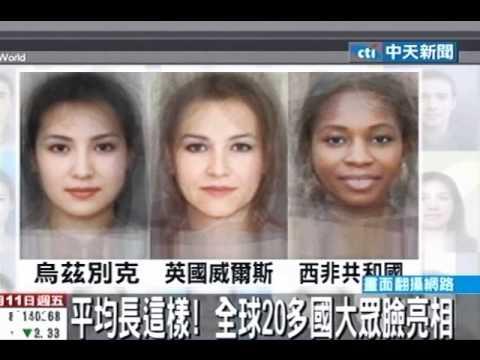 平均長這樣!全球20多國大眾臉亮相