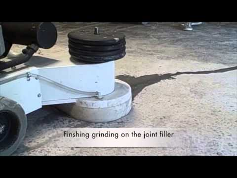 The Aztec UltraEdge Propane Concrete Floor Polishing Demo