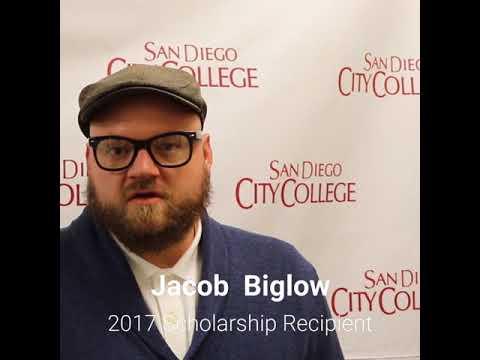 Friends of Downtown San Diego Scholarship recipient, Jacob Biglow, San Diego City College student