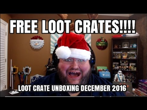 FREE LOOT CRATES!!!  Loot Crate Unboxing December 2016 revolution