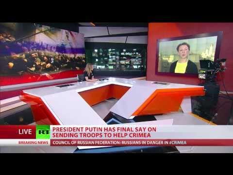 Putin requests senators' approval to send troops to Crimea