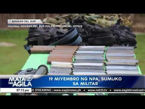 19 miyembro ng NPA, sumuko sa militar
