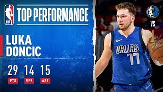 Luka STUFFS Stat Sheet With Second Consecutive Triple-Double