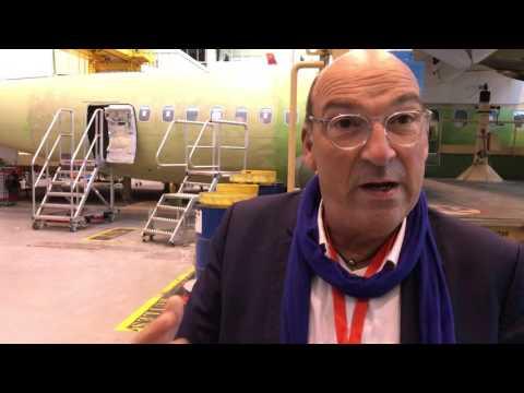 Présentation de l'ATR 72-600 par Olivier Besnard directeur général du pôle régional