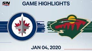 NHL Highlights   Jets vs. Wild – Jan. 4, 2020