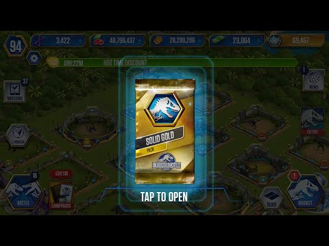 Jurassic world the game - 70,000 JW . SOLID GOLD PACK |