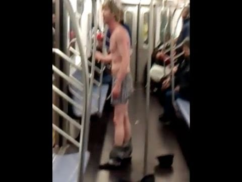 Subway Fights, NYC Naked Man Rants -  How To Avoid Both