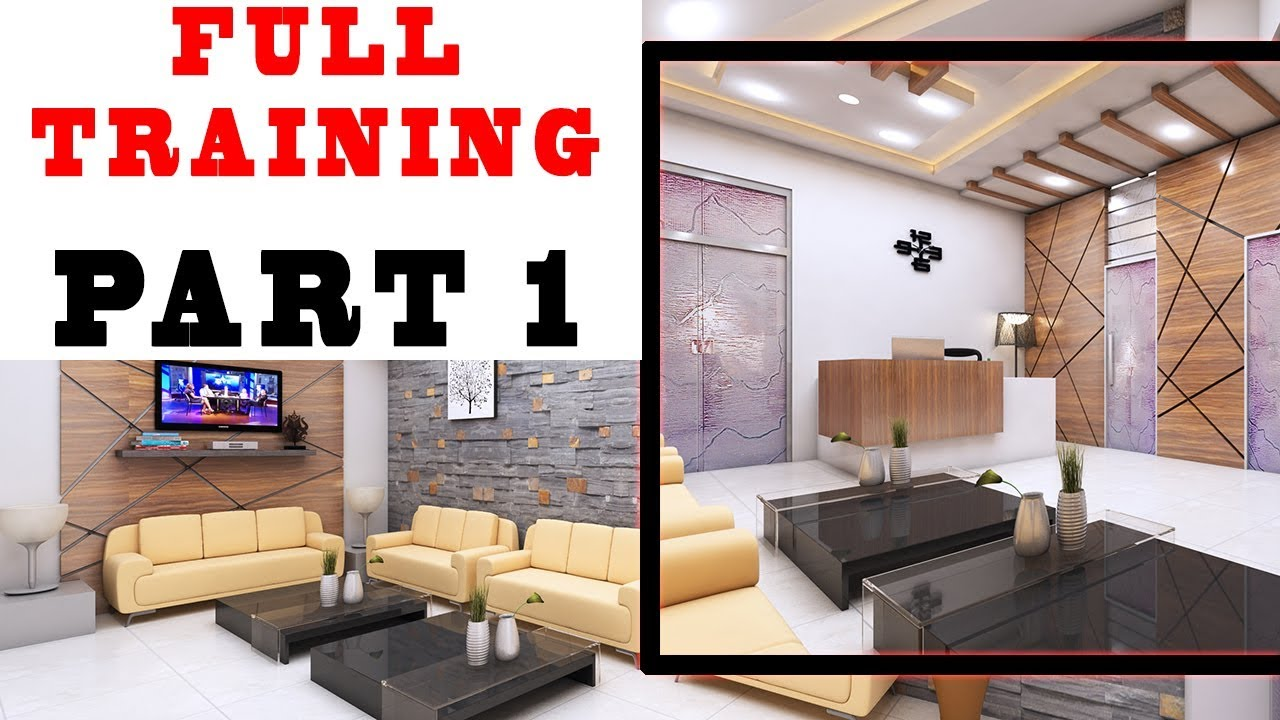 Interior design tutorial for beginners in hindi 3ds max full training part 1