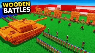 NEW Wooden Tank VS Wooden Soldier Army (Wooden Battles Funny Gameplay)