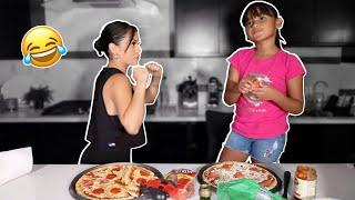 PIZZA CHALLENGE W MY NIECE!