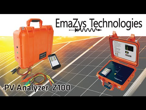Photovoltaic Solar PV Test Instrument Z100 Analyzer - Emazys Technologies