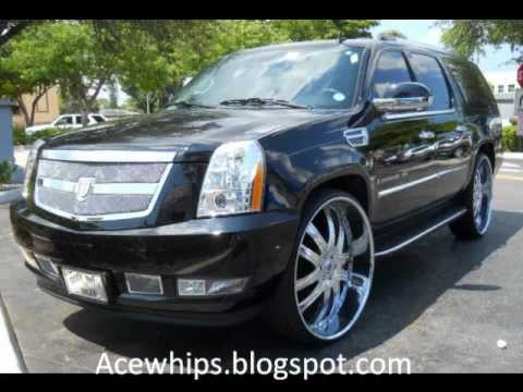 "Arctic Customs- Cadillac Escalade ESV on 30"" Asantis"