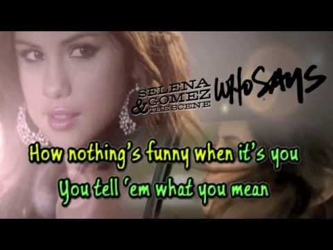 Selena Gomez - Who Says Official Karaoke Verson with Backing Vocals