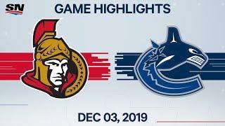 NHL Highlights   Senators vs Canucks – Dec. 3, 2019