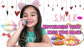 SWAK KISSABLE KEYCHAINS Makes Kissing Noises 💋 Valentine's Day Gift from WowWee