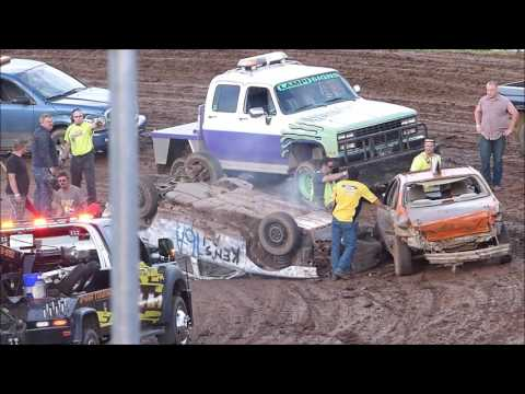 Hibbing Raceway ENDURO -Two Rollovers-July 9th 2016-First rollovers in Many Years