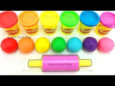 Learn Colors Play Doh Balls Paw Patrol Disney Princess Peppa Pig Kinetic Sand Surprise Toys Fun Kids