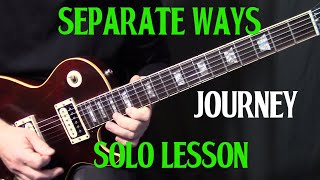 "how to play ""Separate Ways"" by Journey on guitar - guitar solo lesson tutorial"
