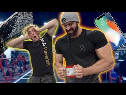 Thumbnail: IPHONE X STRENGTH TEST WITH WORLD'S STRONGEST MAN!