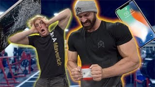 IPHONE X STRENGTH TEST WITH WORLD'S STRONGEST MAN! thumbnail