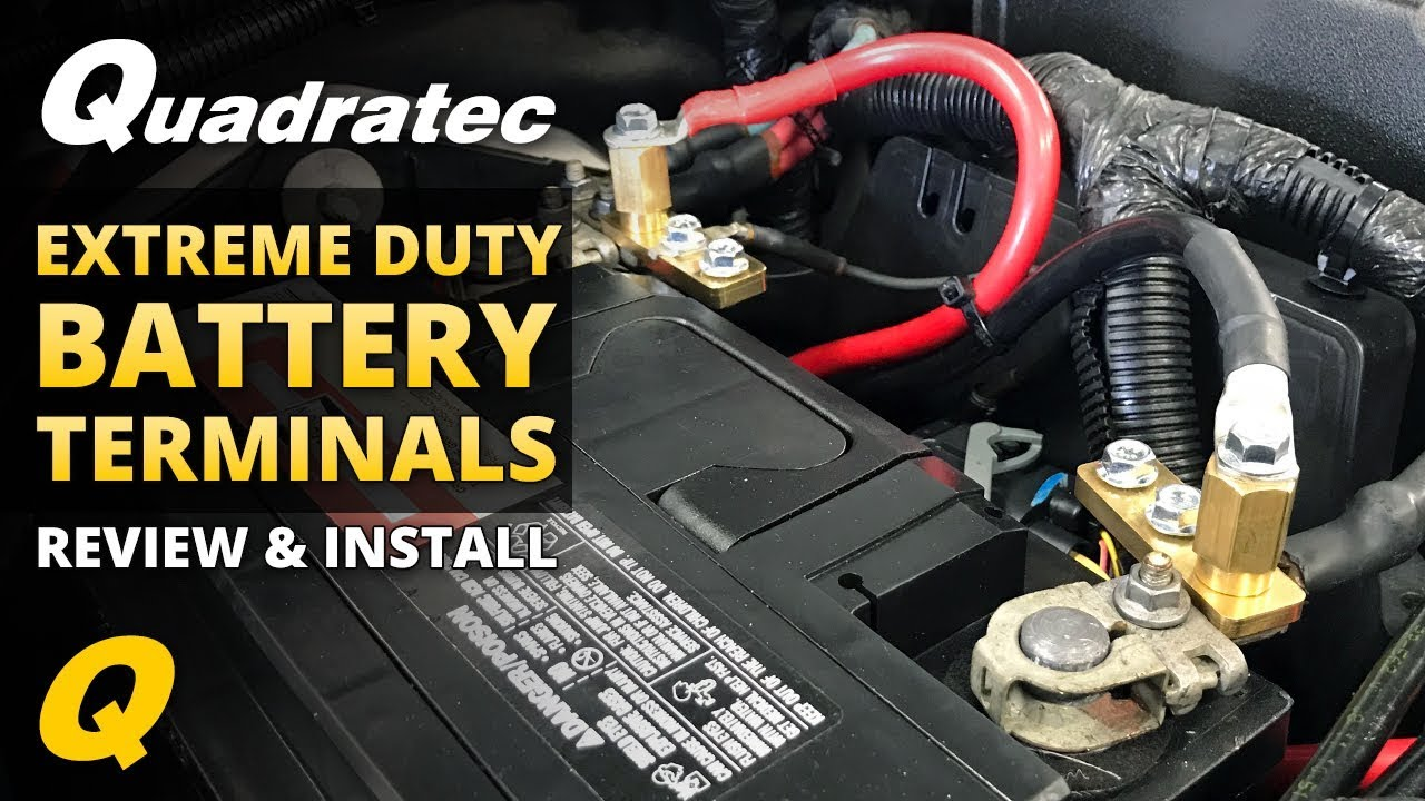 How to Install Quadratec Extreme Duty Battery Terminals for Jeep Wrangler Jeep Oem Wiring Connectors on jeep rivets, jeep hitch accessories, jeep ecu connectors, jeep lighting, jeep antennas, jeep wheels, jeep spark plugs, jeep tires, jeep wire connectors, jeep towing lights, jeep nuts, jeep ignition parts, jeep utility trailers, jeep warning lights, jeep jacks, jeep relay,