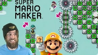 Extreme Air-kick Mario   Nearly Impossible Levels - Super Mario Maker